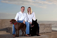 Kari, Chris and Dogs Portrait
