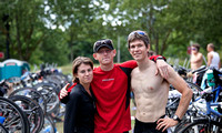 Matt and Zach at the 2010 Portland Triathlon